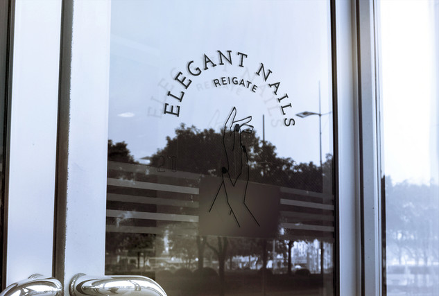 Logo on window