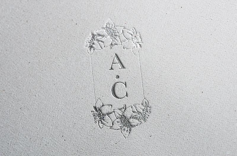 Floral Logo Variation Foil embossed