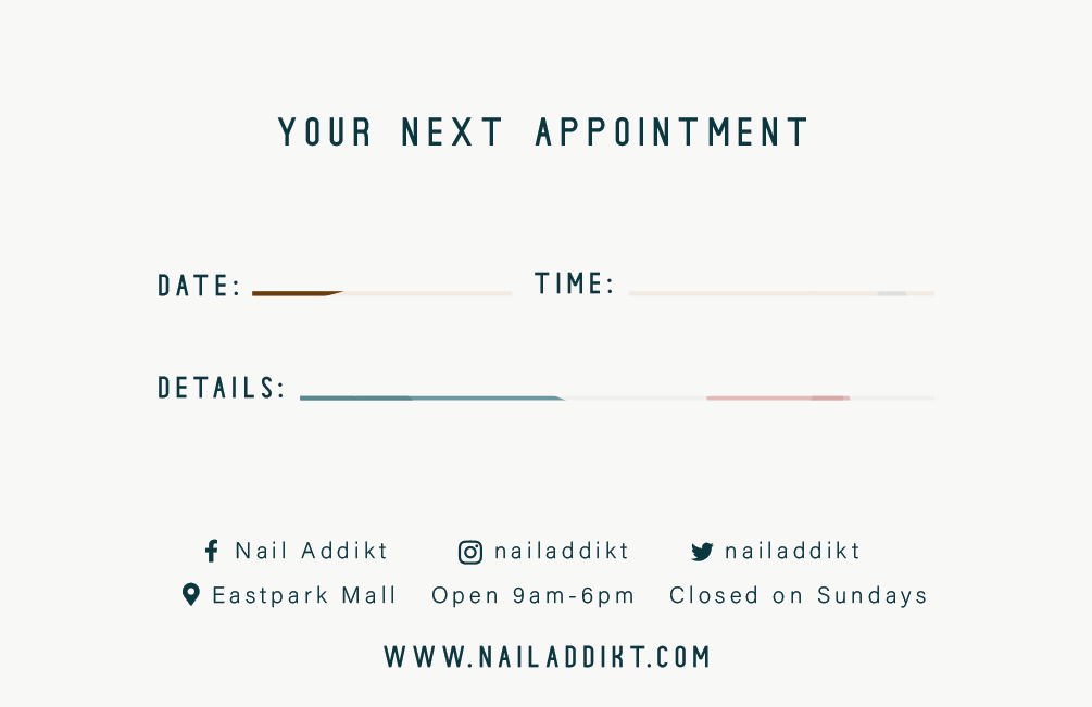 Appointment card back (gift)
