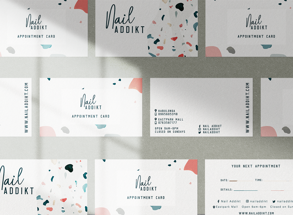 Business card and appointyment card design