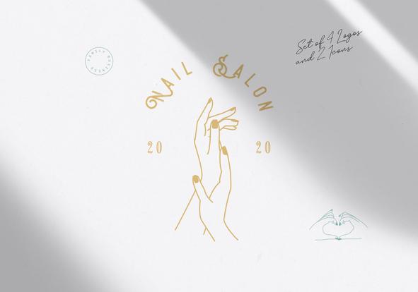Nail Salon Branding Package