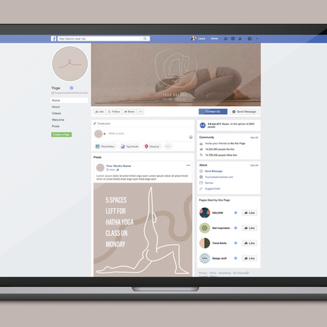 Logo, Icon, and elements used on facebook to create a cohesive brand experience