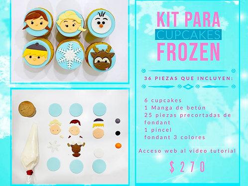 Kit para cupcakes de Frozen