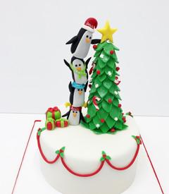 Arbolito Navideño con pingüinos
