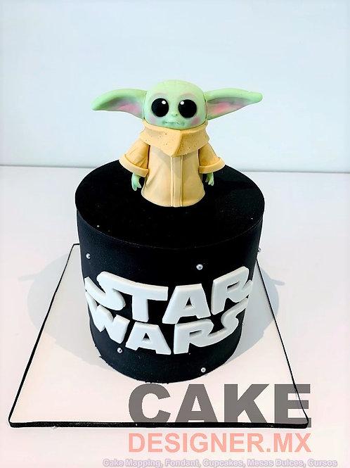 Pastel Star Wars con 1 figura Baby Yoda