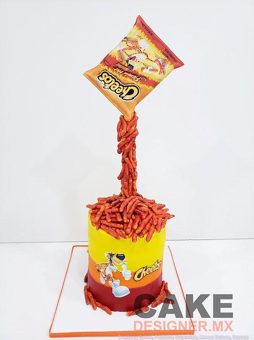 Pastel Cheetos Famin Hot