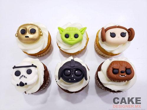 Cupcakes Starwars 6pz