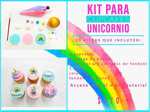 Kit de Cupcakes Unicornio