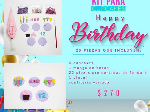 Kit de decoración de Cupcakes happy Birthday