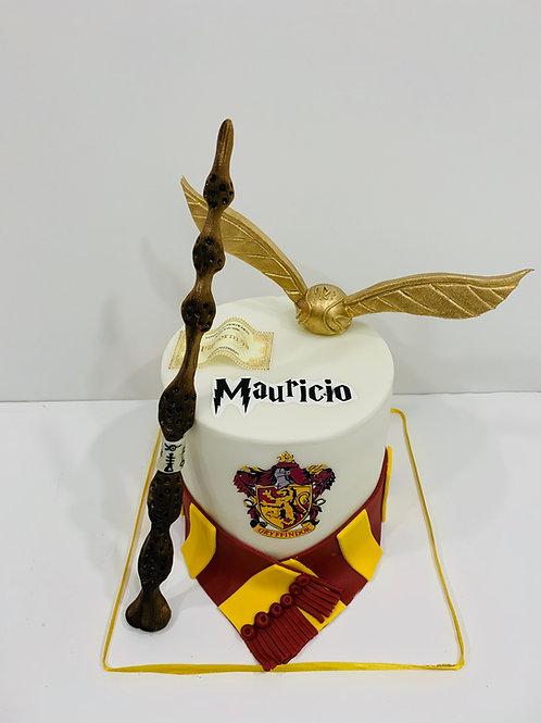 Pastel de Fondant Harry Potter Griffindor