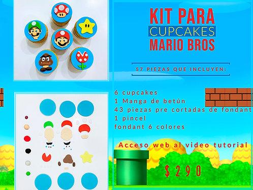 Kit para cupcakes de Mario Bros