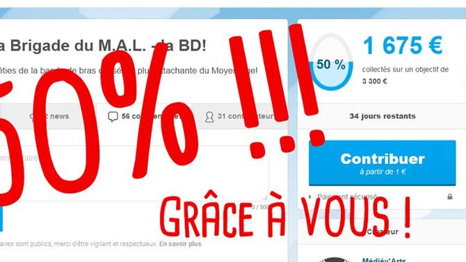 Déjà 50% sur la page Ulule!!