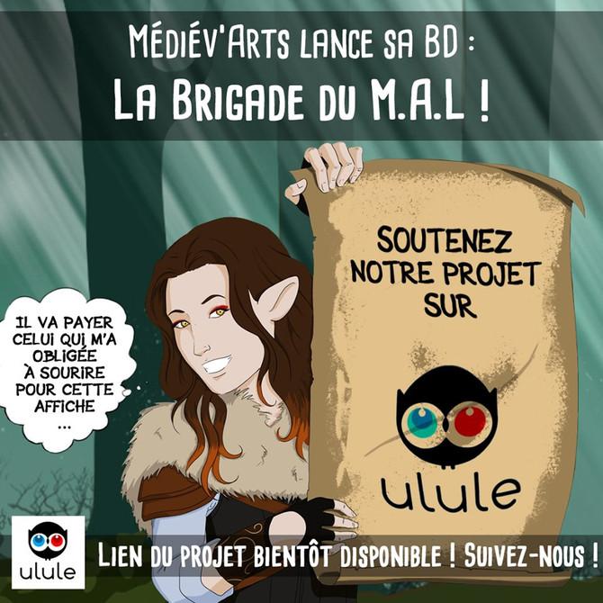 Médiév'Arts lance sa BD sur Ulule!!