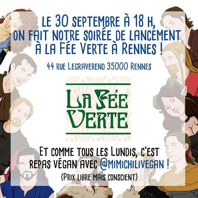 Soirée de lancement à la Fée Verte de Rennes!!