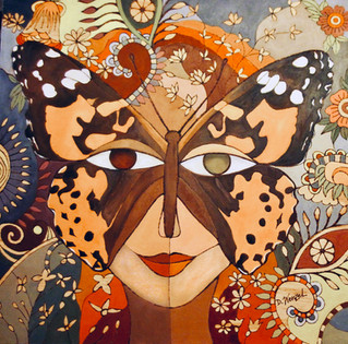 PAINTED LADY BUTTERFLY MASK
