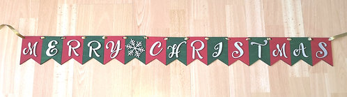 Wooden Christmas bunting