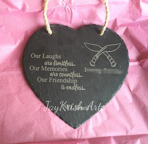 Memorial slate plaque