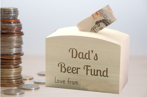 Personalised wooden money box