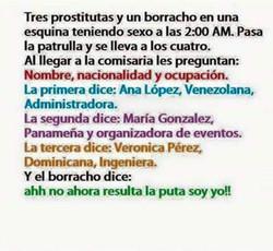 Tres prostitutas y un borracho