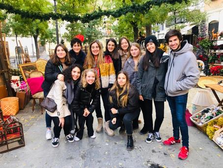 Los alumnos de Dirección de Arte de la UFV, en el rodaje de Telepasión Española