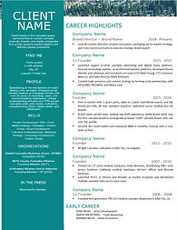 Graphic Networking Resume - Cannabis Ind