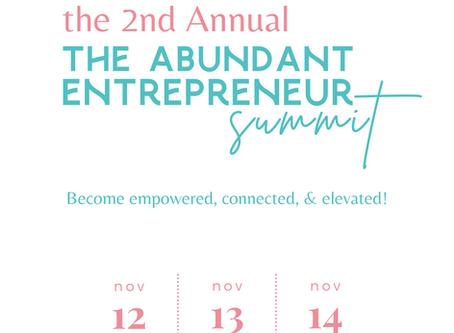 Join Us At The Abundant Entrepreneur Summit This November!