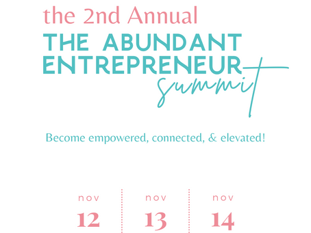 Join Us At The Abundant Entrepreneur Summit This November!