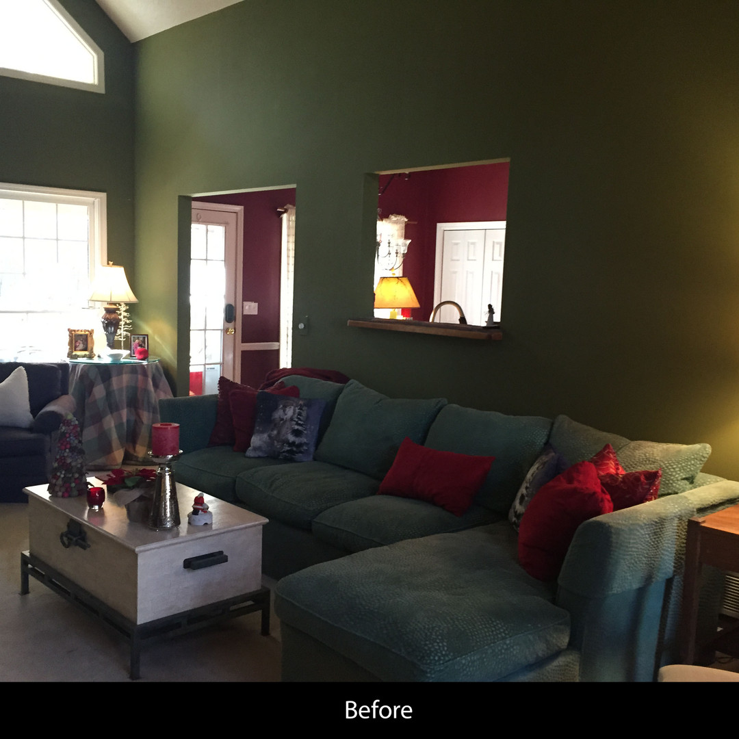 Family Room Renovation - Before