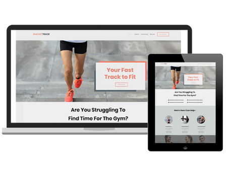 The Fast Track Website | A Premium Wix Website Template for Coaches