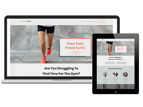 The Fast Track | Premium Wix Website Template