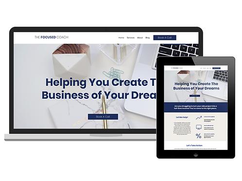 The Focused Coach | Premium Wix Website Template