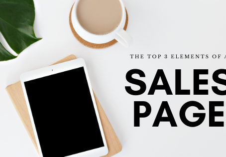 The Top 3 Elements of a Sales Page