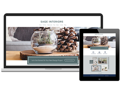 Sage Interiors Portfolio | Premium Wix Website Template