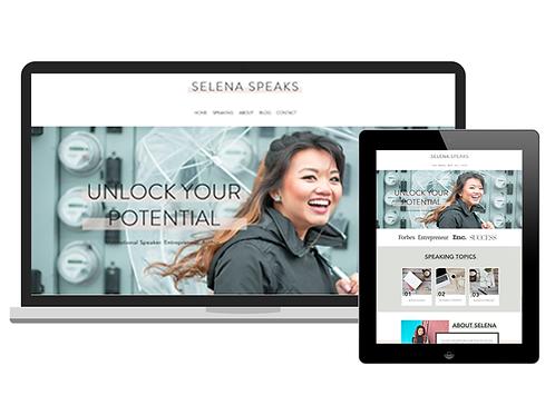 Selena Speaks | Premium Wix Website Template