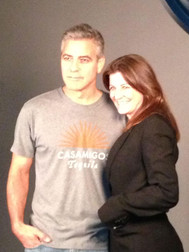 Jane Sarkin and George Clooney