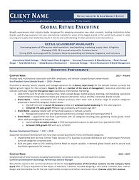 International Retail Industry Executive