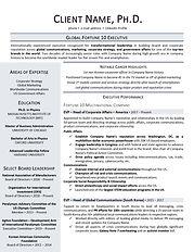 Board-level Resume - Fortune 100 Consume