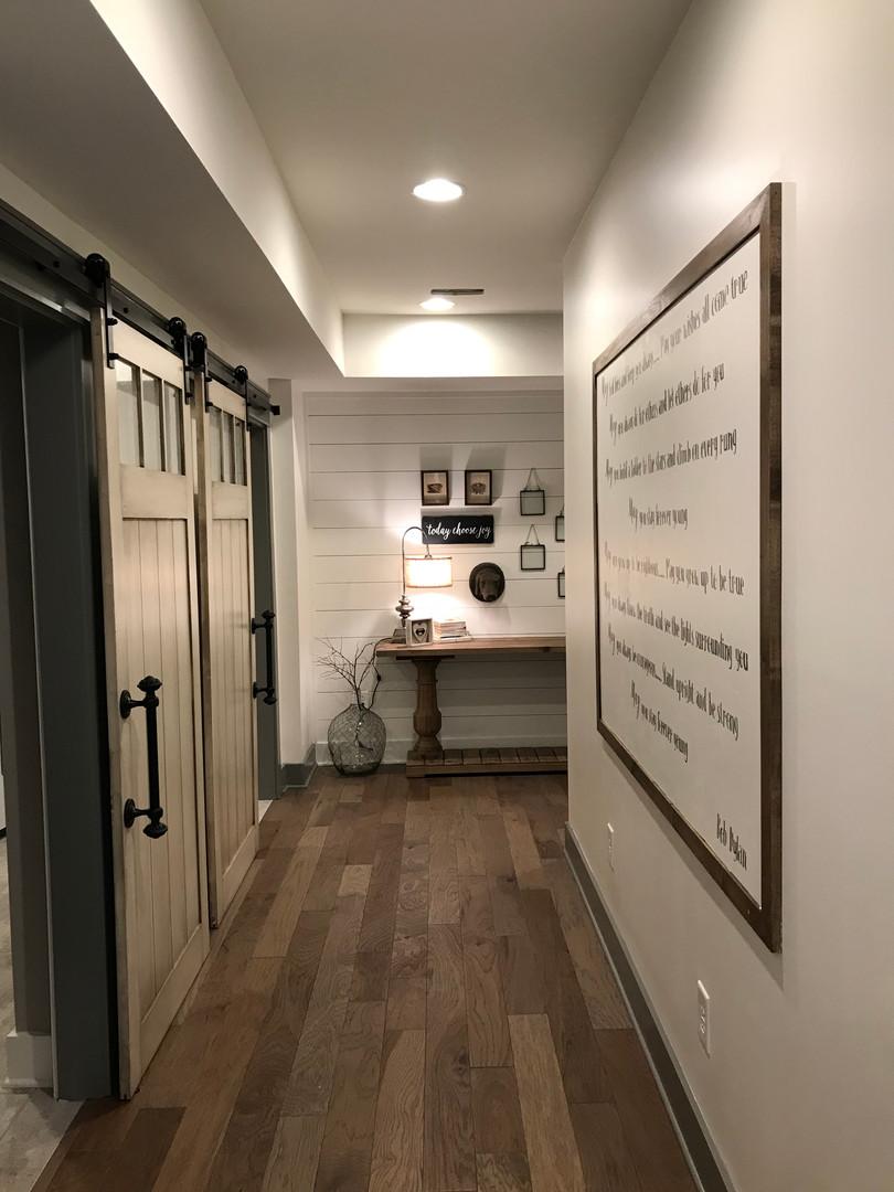 Basement Hallway After