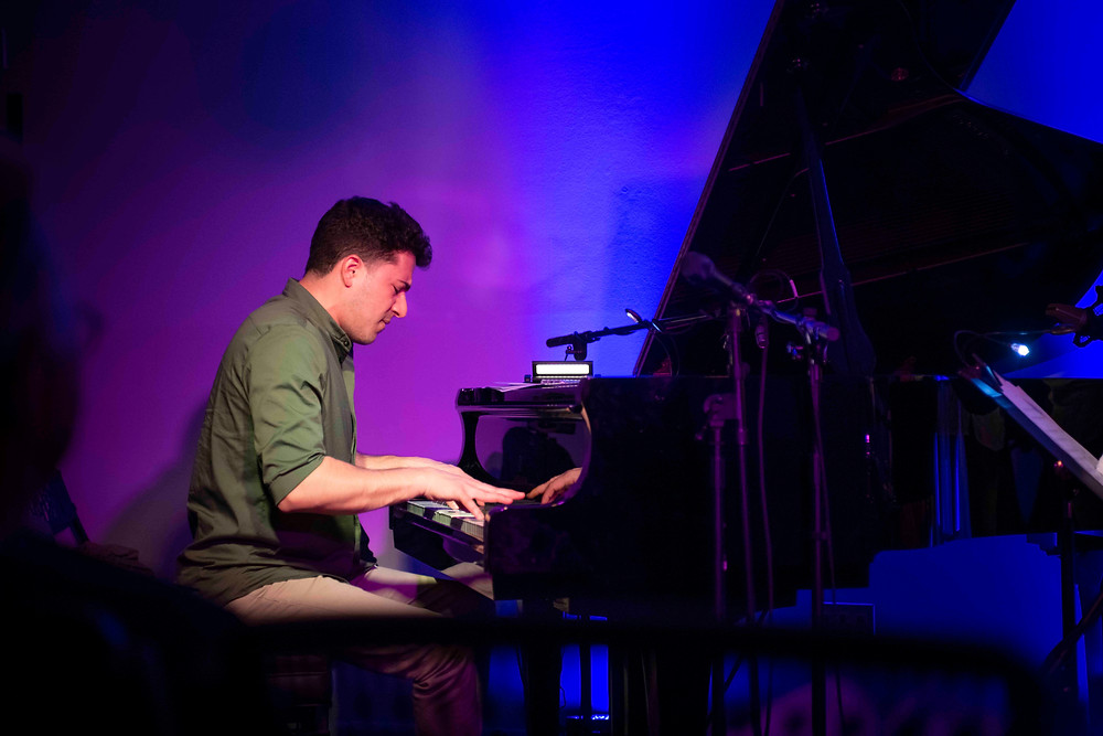 Emmet Cohen performs the music of Gregg Hill in East Lansing, Michigan. Photo by Lynne Brown