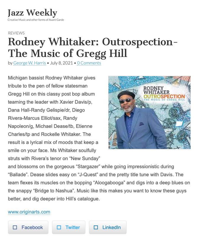 Rodney Whitaker: Outrospection - The Music of Gregg Hill