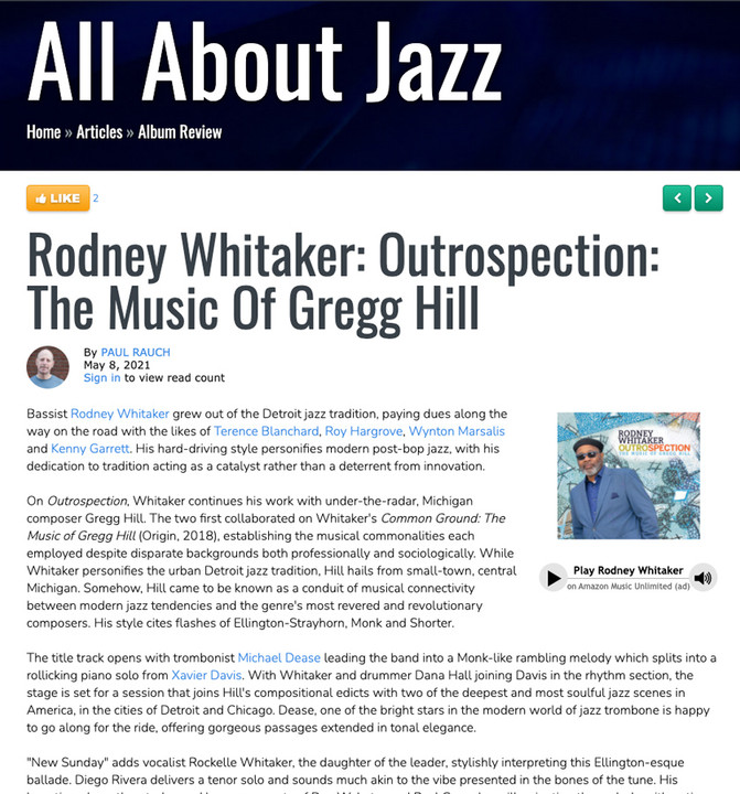ALL ABOUT JAZZ REVIEW
