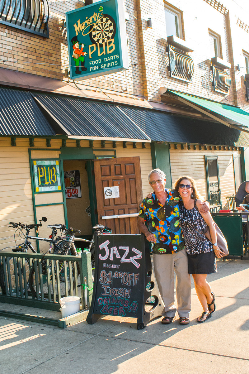 Gregg Hill and his wife Lois Newmaw at Moriarty's for Tueday Night Jazz