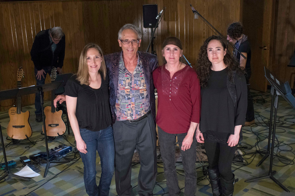 Left: Gregg's Neice, Carmen Long, Gregg Hill, Susan Long (Gregg's sister) and Neice Carrie Wood at the Tone Color Concert.