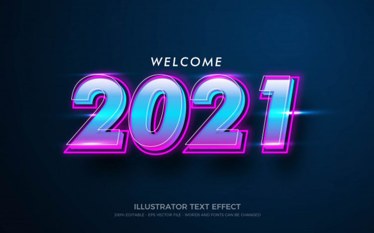 editable-text-effect-welcome-2021-style-