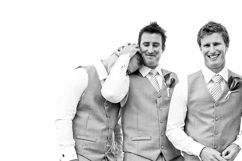 Great Groomsmen Goofing around