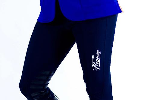 Pantalon Fhorse Bleu / Broderie Blanche
