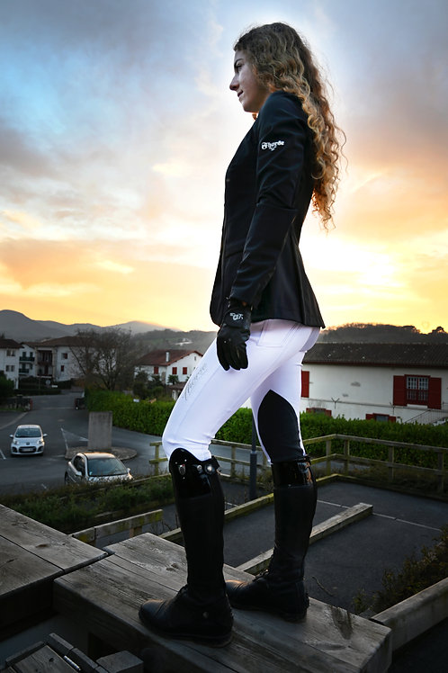 Pantalon Fhorse Blanc / Broderie Silver / Alcantara Anthracite