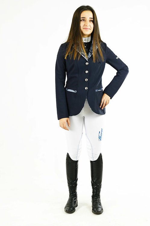 Veste Fhorse Bleue Marine / Col et Poches Python Bleu
