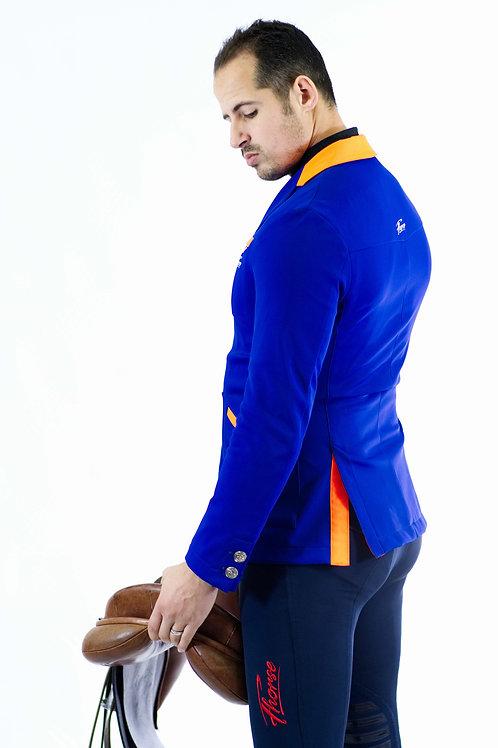 Pantalon Fhorse Bleu / Broderie Rouge