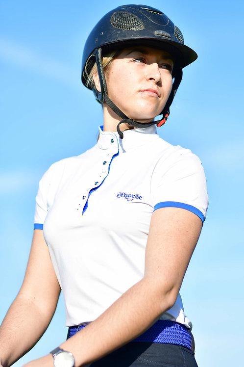 Polo Fhorse Blanc et Bleu